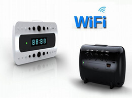 Wholesale Alarm Home Wifi - Full HD 1080P WIFI Camera IP night version Camera digital spy camera alarm Clock Mini Camcorders Home security baby monitor