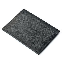 Wholesale Black Book Bag Purse - Vintage Slim Mini Leather Credit ID Card Holder Wallet Purse Bag Pouch Book Cover Case Wholesale T H210727