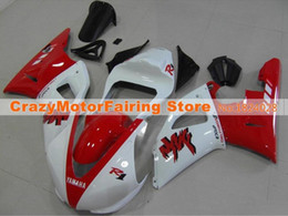 Wholesale Motorcycle Race Bodywork - 3 Free Gifts New motorcycle Fairings Kits For YAMAHA YZF-R1 2000 2001 r1 00 01 YZF1000 bodywork hot style red white Racing bike