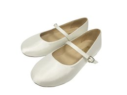 Wholesale Cheap Girls Wedding Shoes - Ivory Color Cheap Pig Skin Linging Leather Insock Flower Girl Shoe For Little Girl In Wedding Kids Wedding Dress Shoes Communion Kid Shoes