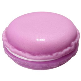 Wholesale Plastic Boxes For Earrings - New Arrive Sweet Macarons Storage Box Candy Color For Jewelry Earring Outing Boxes Living Essential