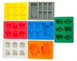 Wholesale Wholesale Chocolate Cake Boxes - ice cube tray molds 8pcs lots Creative US DIY model FDA 100% silicone chocolate cake mold ice box