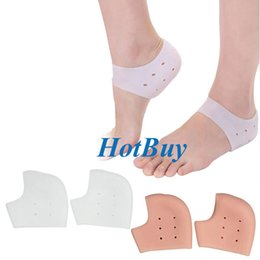 Wholesale Silicon Heel - 1 Pair Gel Heel Sleeve Moisturizing Silicone Socks Heel Ankle Pain Relief Cushion Sleeve Silicon Ankle Cover #3952