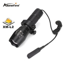 Wholesale Pistol Scope Mounts - G700 E17 Tactical white led hunting Pistol flash light torch CREE XM-L2 LED light zoomable led Waterproof Flashlight+scope mount+Switch