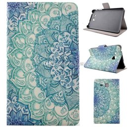 Wholesale Galaxy S2 Case Flower - Galaxy Tab4 T230 T330 Tab A8.0 T350 Tab S2 T715 T280 Tab3 lite T111 Mandala Printed Flower PU leather case smart cover