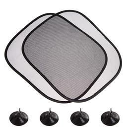Wholesale Car Rear Window Sunshade - Wholesale- 2Pcs Lot 44*36cm Black Car Sun Shade Side Rear Window Sunshade Cover Visor Shield Screen Solar Protection