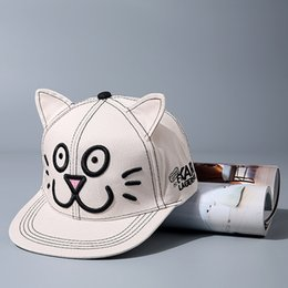 Wholesale Hello Kity Kids - 2016 Lovely cat ear Hello Kity Embroidery Kids Baseball Caps Chapeu Gorras Casquette Hiking hats Parent children Hip Hop cap