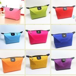 Wholesale Pillow Kits - 2016 10 Colors High Quality Lady MakeUp Pouch Cosmetic Make Up Bag Clutch Hanging Toiletries Travel Kit Jewelry Organizer Casual Purse
