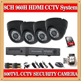Wholesale Surveillance Dvr Kit Diy - CIA- DAVHUA OEM 8channel CCTV Security Camera System 8CH DVR 800TVL indoor Day Night IR Camera DIY Kit Video Surveillance System