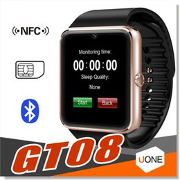 Wholesale Russian Meter - GT08 Smart Watch DZ09 Wristband Bluetooth Bracelet With Pedometer Camera Monitoring Sleep Sedentary Reminder Compatible Platform Android IOS