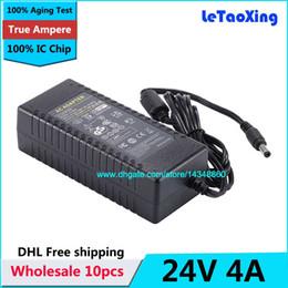 Cámara ic chip online-10 unids Con IC Chip AC DC Fuente de Alimentación 24 V 4A 96 W Adaptador Cargador Transformador Para LED Luz de Tira cámara CCTV Envío gratis