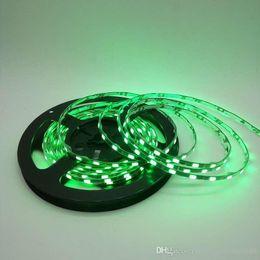 Wholesale 5mm Green Light - 5M 300led lot Narrow side IP65 Waterproof 5730 LED Strip flexible light DC12V 5mm Width Black   White PCB 60led m