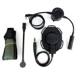 HD03 Z тактический Bowman Elite II гарнитура с водонепроницаемым PTT правое / левое ухо для Kenwood 2-контактный двухстороннее Радио зеленый от
