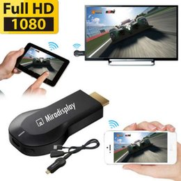 Wholesale Dlna Wifi Dongle - 2.4G 1080P Miradisplay Wireless WIFI HDMI Airplay Mirror Dongle to TV For iPhone cell phone ipad pad Adroid IOS DLNA Display Chromecast