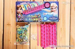 Wholesale Wholesale Fun Loom Bands - Wholesale - New Arrival Frozen Fun colourful loom bands DIY bracelets rubber rainbow band Anna Elsa bracelet toy for children child