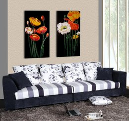 Wholesale Contemporary Homes Pictures - Contemporary Beautiful Flower Painting Giclee Print On Canvas Home Wall Decoration Art Set20026