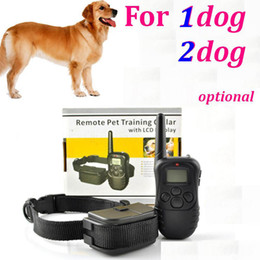 Wholesale Dogs Training System - New 300M Remote Control Dog pet Training System 100LV Shock Vibra Remote Electric Dog Training Collar For 1 dog 2 dog