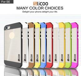 iphone s6 nuevo pc Rebajas Nuevo para S7 Edge Funda protectora Slicoo Hybrid PC TPU Funda blanda para Iphone 6s Plus Galaxy S6 cubierta posterior del teléfono DHL SCA132