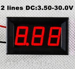 10PCS three-wire 0.36` LED DC Digital Voltmeter Panel Meter 0-32V RED COLOR new