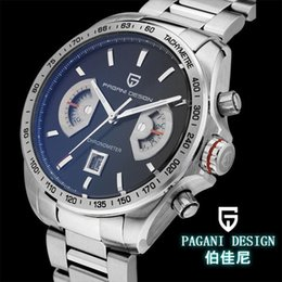 Wholesale Diving Watches Man - 2018 luxury watchWatches men luxury brand Multifunction Pagani Design 2445 quartz men sport wristwatch dive 30m military watch relogio mascu