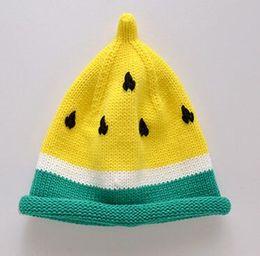 2018 cappelli invernali all'uncinetto Cappello per bambini Set copricapo Cappuccio per anguria tenere in caldo Cappello lavorato a maglia 98 da