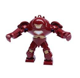 Wholesale Decool Iron Man - Decool 0181 Super Heroes 10pcs lotThe Avengers IRON MAN HULK BUSTER Action Figures figures Building Blocks diy toys