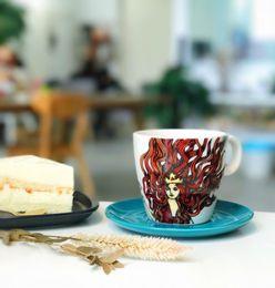 Wholesale Crown Mugs - Genuine Starbucks Crown Mermaid goddes coffee cup 2017 Anniversary Limited Edition ceramic Mug with saucer 10oz Christmas gift