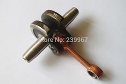 Wholesale Crankshaft Tools - Crankshaft fits Robin NB411 CG411 49CC Engine Motor brush cutter free shipping replacement part