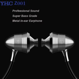 Wholesale Earphones Heavy Bass - Original YHC Z001 Metal Professional Sound Quality Heavy Bass in-ear HIFI earphones with mic for iPhone xiaomi samsung mp3 mp4 Free shipping