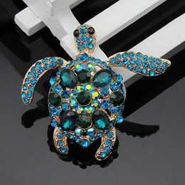 Wholesale Cheep Gifts - 2016 new Selling Cheep High-grade Lovely Beautiful Turtle Brooches Halloween Funny Brooch Christmas Gift Fashion Jewelry