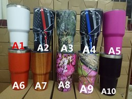 Wholesale Mugs Crystals - 2017DHL 12oz 20oz 30oz Colored Rambler Tumbler beer Mugs Insulation Cup with crystal lids Stainless Steel Travel Mugs