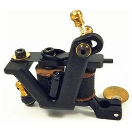 Wholesale Tattoo Machine Custom Handmade Coils - Good Quality Best Price Free Shipping USSA Vintage Pro Handmade Cast Iron Custom 10 Wrap Coils Tattoo Machine Gun For Liner