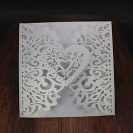 Argentina Envío gratis forma de corazón tarjeta de felicitación de la boda día de san valentín decoraciones del Favor invitaciones de boda tarjeta de forma de corazón de diseño Suministro
