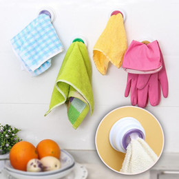 Wholesale Towel Shelve - 2016 new 1pcs Wash cloth clip holder dishclout storage rack bath room storage hand towel clip Wholesale