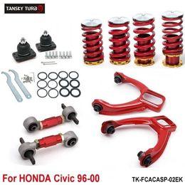 Kit di abbassamento di honda online-Tansky - Molle elicoidali inferiori + Kit camber anteriore + Bracci di controllo inferiori posteriori (adatto per Honda Civic 92-95) TK-FCACASP-01EG