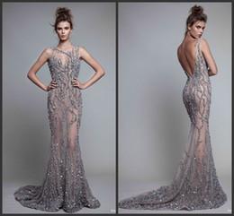 designer elegante longos vestidos de noite Desconto 2017 Elegante Ilusão Bainha Oriente Médio Full Beading Designer Formal Modest Longo Vestidos de Festa À Noite
