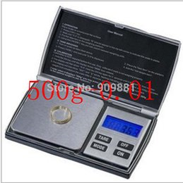 Wholesale Weight Labs - 500G 0.01Mini Portable Digital Scale Electronic Gram LCD Balance Weight Precision 500g*0.01 Lab Kitchen Jewelry Pocket Scales