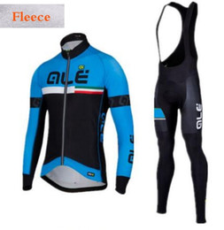 Wholesale Cycle Clothing Kits - Winter Thermal Ale Cycling Clothing 2017 Men Fleece Jersey Bike Bicycle suits Cycling Kit Green Yellow Red Blue Ropa Ciclismo