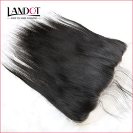 Wholesale Indian Virgin Frontal Closures - Brazilian Straight Lace Frontal Closure Malaysian Indian Peruvian Cambodian Unprocessed Virgin Human Hair Closures 13x4 Size With Baby Hair