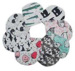Wholesale Toddler Boy Neckerchief - Baby hat Girls Boys Cap Toddler Beanies Pattern Infant Hats Skull Caps Toddler Scarf Boy Girls O Ring Neckerchief Scarves