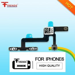 Wholesale Iphone Volume Replacement - for iPhone 6 Volume Control Button Mute Flex Cable Ribbon Replacement Repair Parts New High Quality 100% Tested 20pcs lot