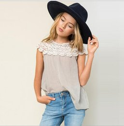 Wholesale Orange Baby Girl Clothes - Teenagers Crochet Lace Cotton T-shirts Junior Fashion Jumper Shirts 2016 Big Babies Autumn Christmas Clothing Babies Clothes