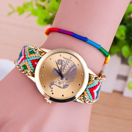 Wholesale Cheap Glass Animals - Braided Bracelet watch luxury watches for women cheap wristwatch Ladies lady Animal Elephant Wristwatches fashion Accessories 2016 gifts