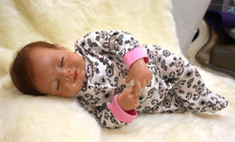 Wholesale Life Like Silicone Dolls - 52cm 21inch Newborn Handmade Reborn Baby Doll Girl Life like Soft Vinyl silicone Soft Gentle Touch Cloth Body Magnetic pacifier