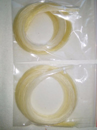 Wholesale Violin Bow Quality - Wholesale- 1 Hank best quality Stallion white bow hair 6 grams in 81cm horse tail hair