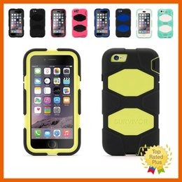 Wholesale Iphone 5s Belt Clip Leather - Silicone Soft Defender Case + Belt Clip 3 in 1 Shockproof Cellphone Protective Cover for iPhone 5 5s 6 6s Plus
