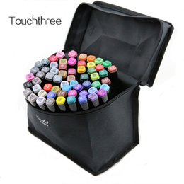 Wholesale Touch Sketch Markers - Touchthee 168 Colors Art Marker Set Alcohol Based brush pen liner Sketch Copic Markers touch twin Drawing manga art supplies