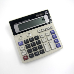 Wholesale Ds Battery - 4pcs lot BIG New Office calculator Large computer keys DS-200ML computer Solar Calculator