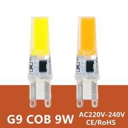 Wholesale G9 Halogen Lamp Light Bulb - G9 Led Lamp Bulb 220V 9W COB SMD LED Lighting Lights replace Halogen Spotlight Chandelier Light 230V 240V Lampada Led G9 Bulb