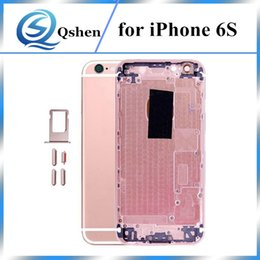 Wholesale Rose Gold Iphone Housing - For iPhone 6S Back Housing Metal Frame Replacement For iPhone 6S Plus Battery Door Cover Gold Rose Gold Silver Grey